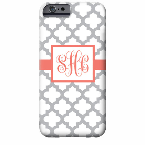 Monogrammed Quatrefoil iPhone Case | Swanky Press