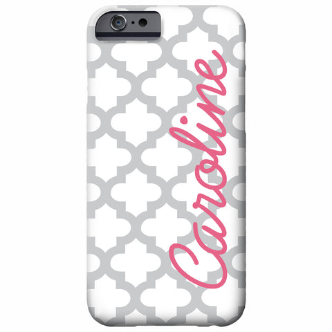 Quatrefoil Personalized iPhone Case | Swanky Press