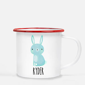 Blue Rabbit Personalized Camp Mug, Red Lip