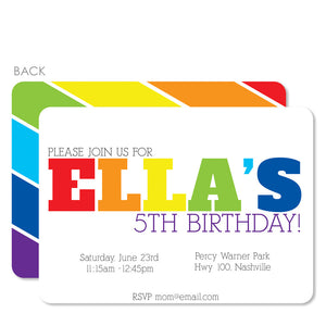 Rainbow Birthday Invitation | Swanky Press