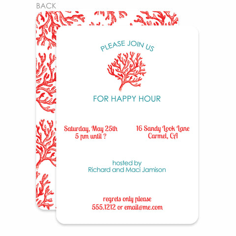 Red Coral Party Invitation | Swanky Press