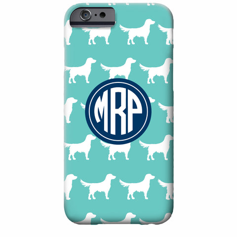 Monogrammed Retriever iPhone Case | Swanky Press