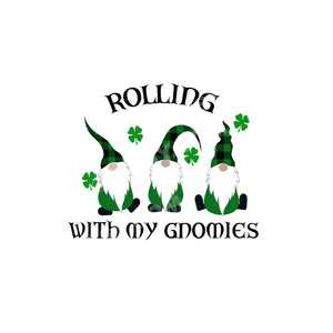 St. Patrick's Day Tea Towel, Rolling with my Gnomies