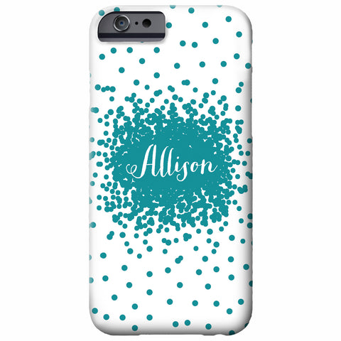 Personalized Scatter Dots iPhone Case | Swanky Press