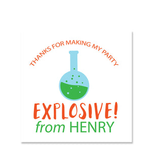 Science Party Favor Stickers (Printed)