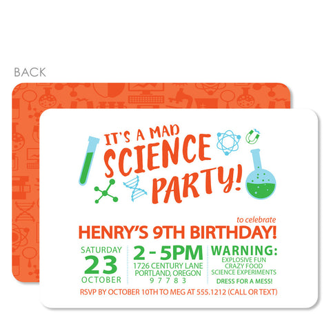 Science Birthday Invitation | Swanky Press