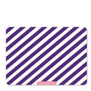 Train birthday party invitation, pink and purple | Swanky Press (back view)