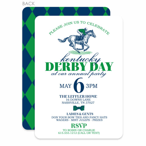 Kentucky Derby Day Invitation | Swanky Press (main view)