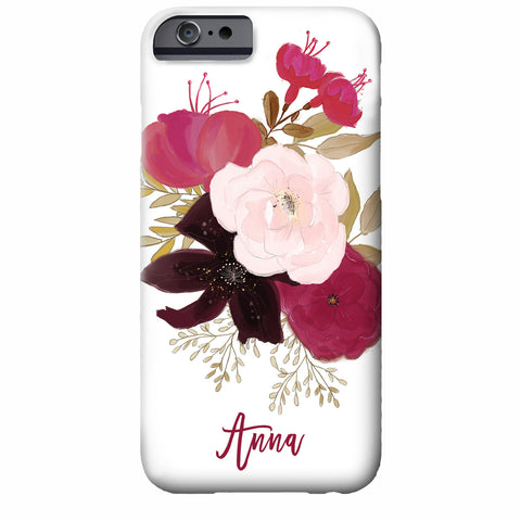 Floral Watercolor iPhone Case (shades of plum)