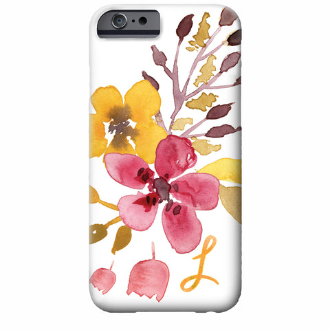 Floral Watercolor iPhone Case (mustard bloom) | Swanky Press