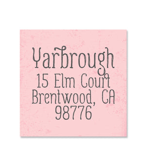 Simple Swirl Return Address Stickers