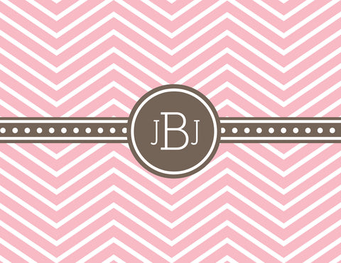 Skinny chevron with band for monogram