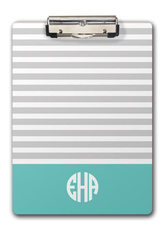 Skinny Stripes Monogram Clipboard | Swanky Press