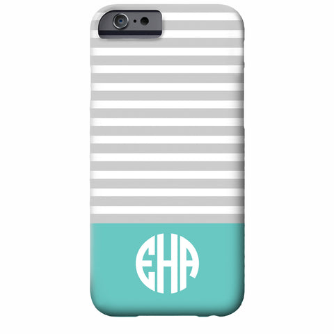 Monogrammed Skinny Stripes iPhone Case | Swanky Press