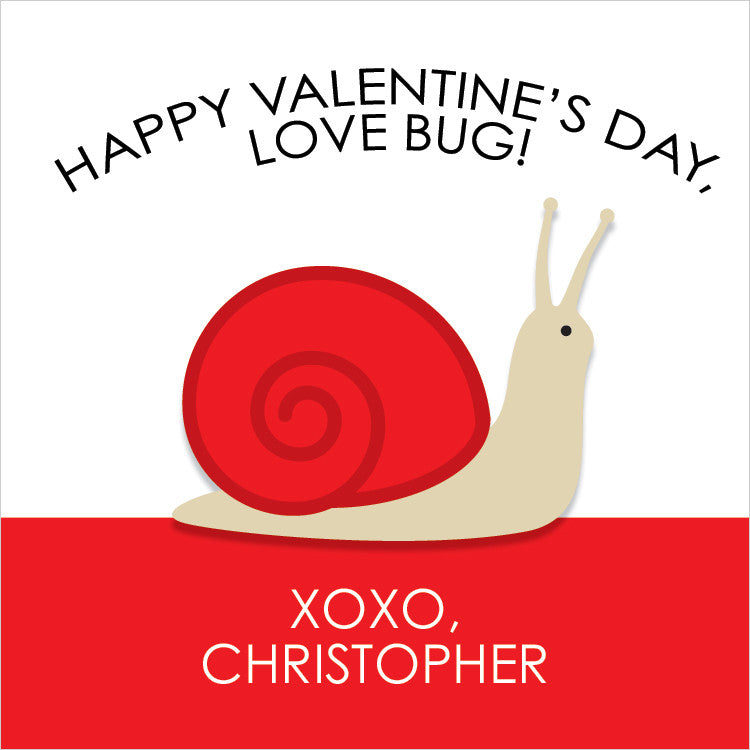 "snail ""love bug"" valentine's day classroom gift tags"