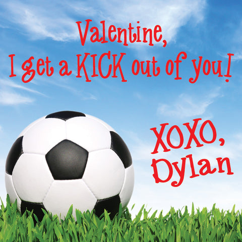 Soccer Valentine's day gift tags