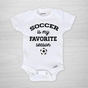Soccer is my favorite season Gerber Onesie®, PIPSY.COM