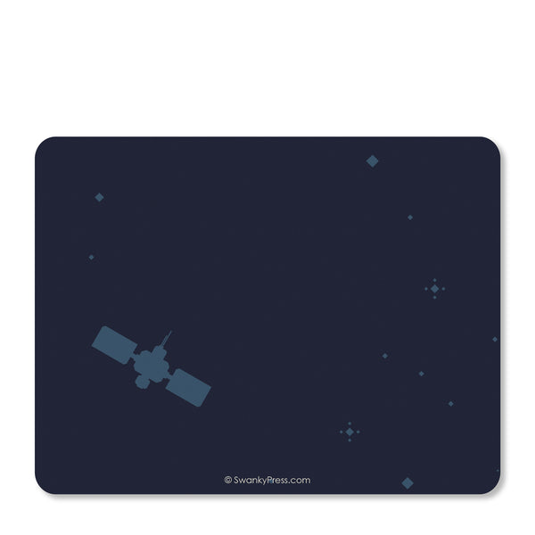 Astronaut in Space Notecard | Swanky Press | Back
