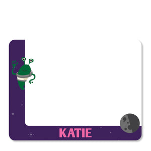 Purple Astronaut in Space Notecard | Swanky Press | Front