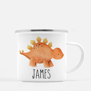 Dinosaur Camp Mug, Stegasaurus, Personalized with your Child's name, PIPSY.COM