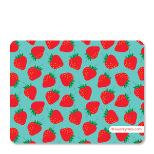 Strawberry Party Flat Notecard | Swanky Press | Back