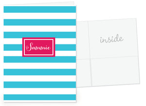 stripe pocket folder | Swanky Press