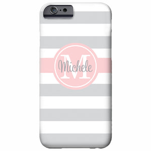 Stripes Personalized iPhone Case | Swanky Press