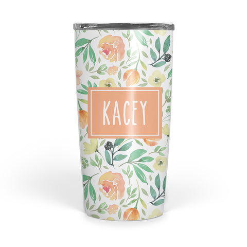 Summer Floral Double Walled Stainless Tumbler (tall)