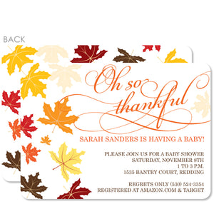 Thankful Baby Shower Invitation