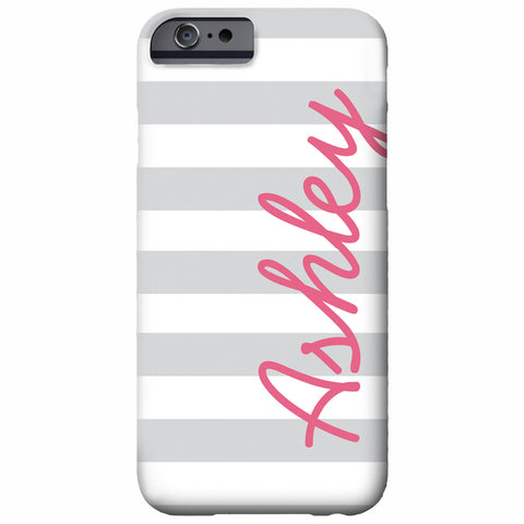 Personalized Thick Stripe iPhone Case | Swanky Press
