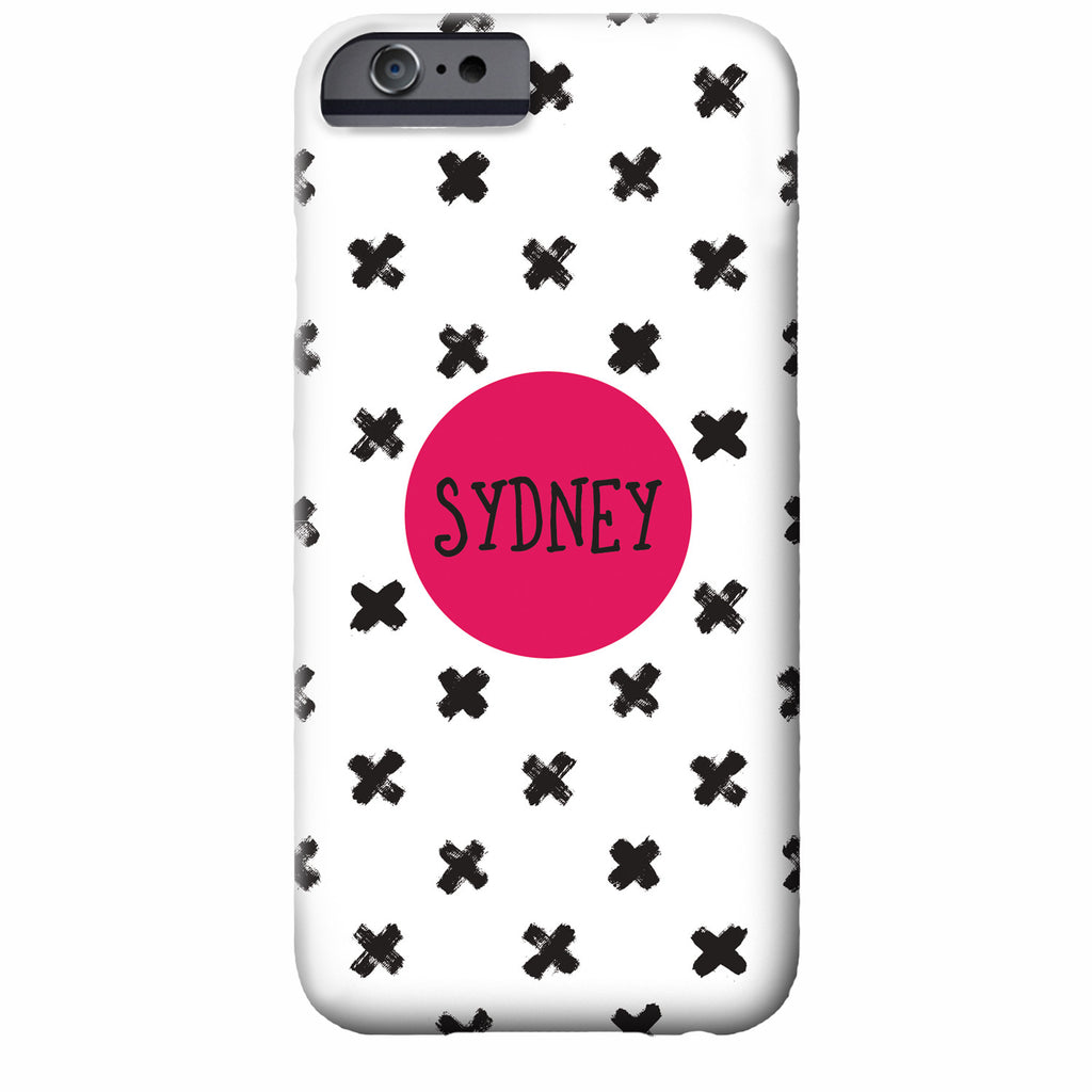 Personalized Tic Tac Toe iPhone Case | Swanky Press