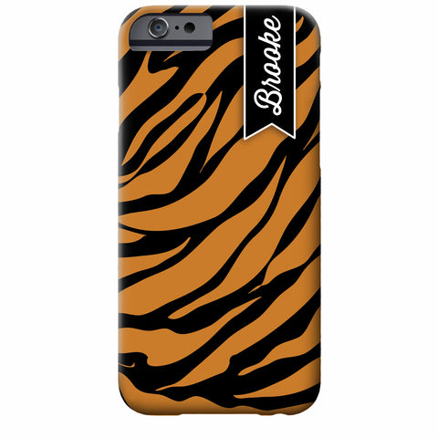 Personalized Tiger iPhone Case | Swanky Press