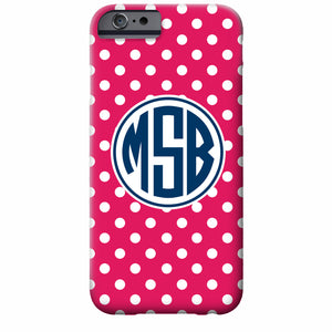 Tiny Dots Monogram iPhone Case