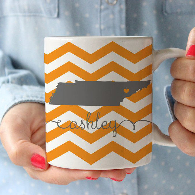 Tennessee Chevron Coffee Cup
