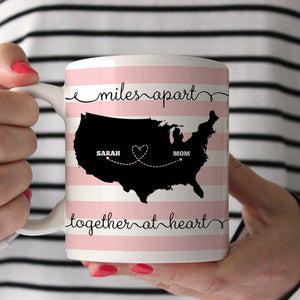 Together At Heart Stripe Coffee Mug