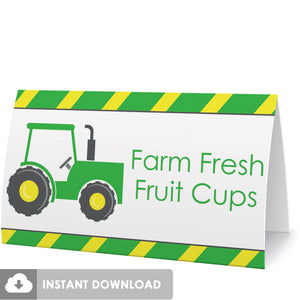 Printable Tractor Food Tents