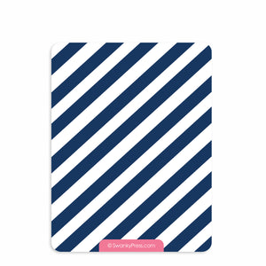 Train Thank You Notes, Pink and Blue | Swanky Press (back view)