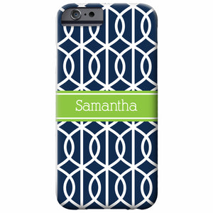 Personalized Trellis iPhone Case | Swanky Press