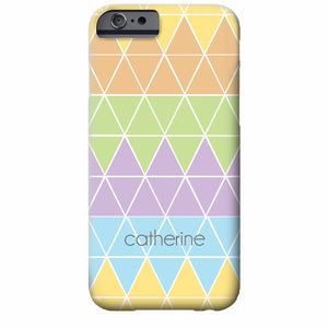Personalized Triangles iPhone Case | Swanky Press