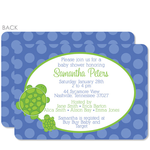 Turtle Baby Shower Invitation