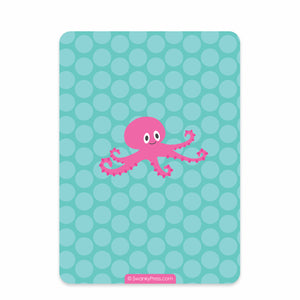 Pink Under the Sea Party Birthday Invitation | Swanky Press | Back