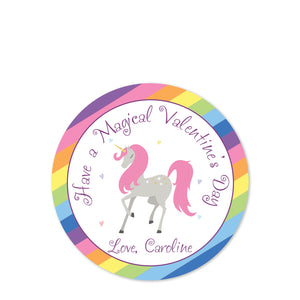 Valentine's Day Stickers  - Magical Unicorn