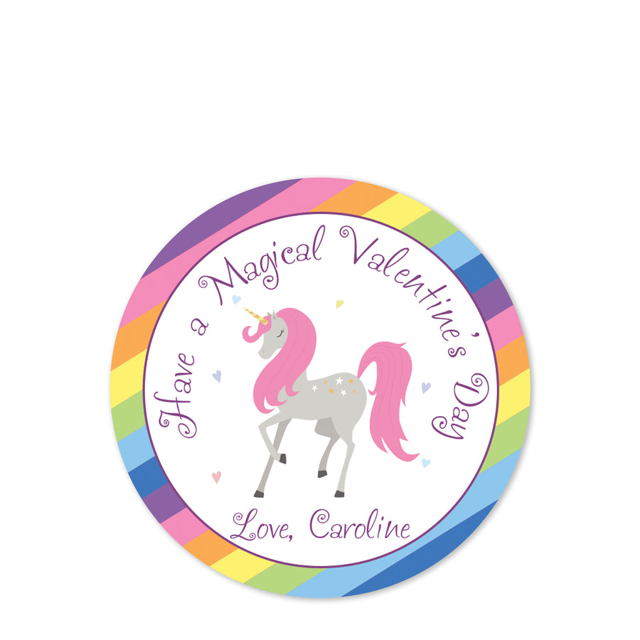 Magical Unicorn Class Party bag sticker | Valentine's Day | Pipsy.com