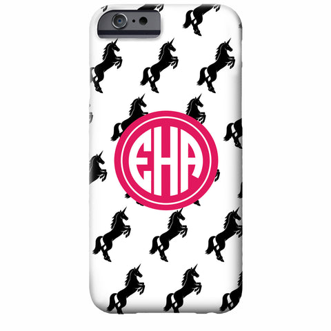 Monogrammed Unicorn iPhone Case | Swanky Press