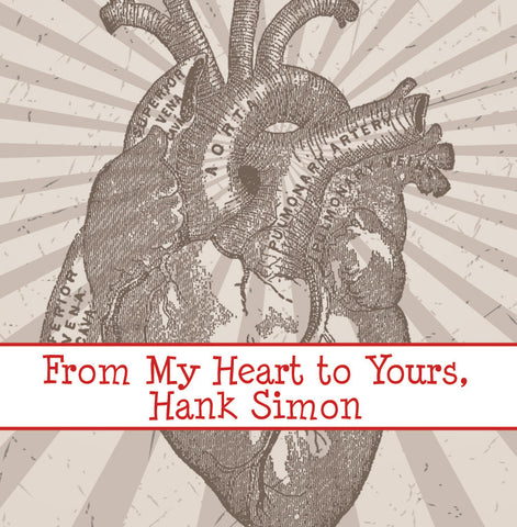 vintage anatomy of the heart for Valentine's Day gift tags