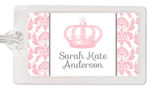 Vintage Princess Crown Bag Tag