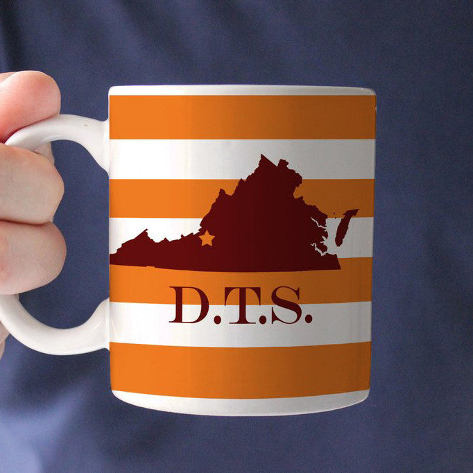 Virginia Striped Coffee Mug