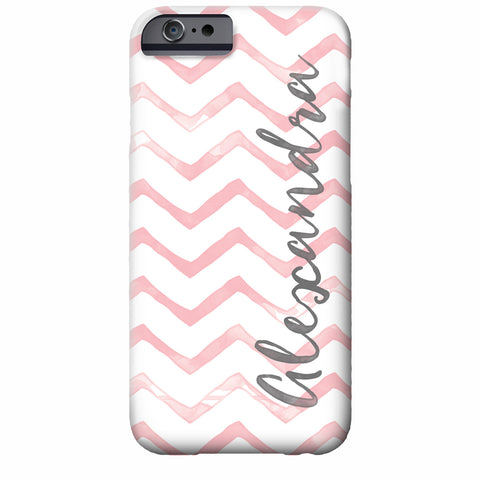 Personalized Watercolor Chevron iPhone Case | Swanky Press