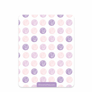 Watercolor kittens flat notecards | Swanky Press (back view)