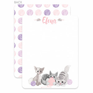 Watercolor kittens flat notecards | Swanky Press